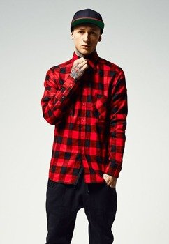 koszula CHECKED FLANELL blk/red