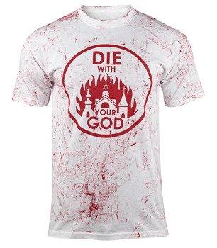koszulka AMENOMEN - DIE WITH YOUR GOD (OMEN071KM WHITE ALLPRINT RED)