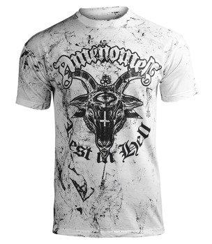 koszulka AMENOMEN - REST IN HELL (OMEN122KM WHITE ALLPRINT BLACK)