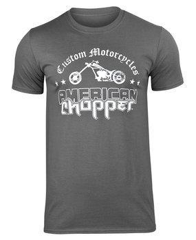 koszulka AMERICAN CHOPPER - WASHED LOGO ciemnoszara