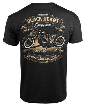 koszulka BLACK HEART - JAWA BOBBER BLACK