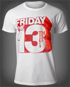 koszulka FRIDAY THE 13TH - BLOCK LOGO biała