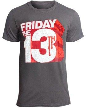 koszulka FRIDAY THE 13TH - BLOCK LOGO szara