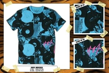 koszulka IRON FIST Vinyl Wrecker - Electric Blue