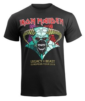 koszulka IRON MAIDEN - EURO TOUR 2018, LEGACY OF THE BEAST, koncertowa