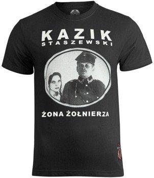 koszulka KAZIK - ŻONA ŻOŁNIERZA, czarna