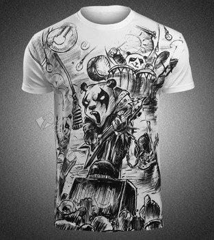 koszulka METAL PANDAS, biała