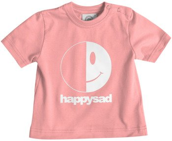 koszulka niemowlęca HAPPYSAD - LOGO (PINK)