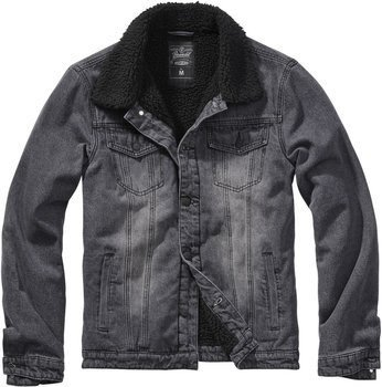 kurtka SHERPA DENIM JACKET black