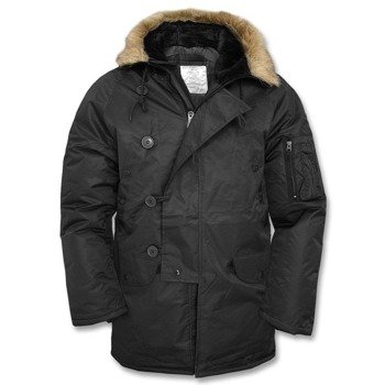 kurtka z kapturem N3B POLAR-JACKE, kolor czarny