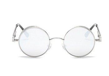 okulary LENONKI STEAMPUNK RETRO RAY SILVER WHITE