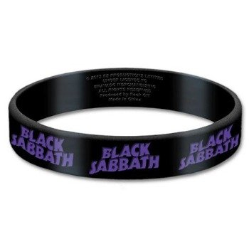 opaska BLACK SABBATH - LOGO silikonowa