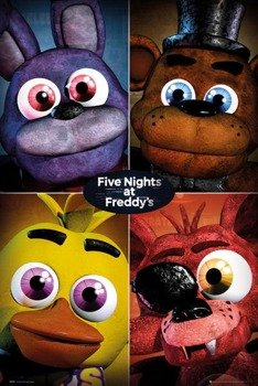 plakat FIVE NIGHTS AT FREDDYS - QUAD