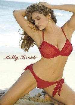 plakat KELLY BROOK - RED BIKINI
