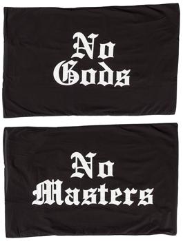 poszewka na poduszkę  BLACK CRAFT - NO GODS, NO MASTERS  (75cm*51cm), 2 szt