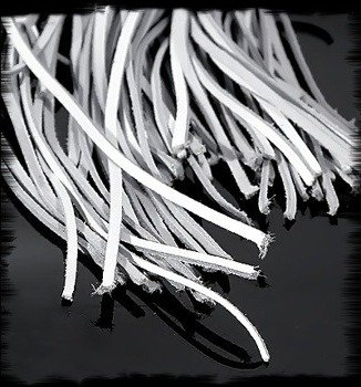 rzemyk GRUBY biały