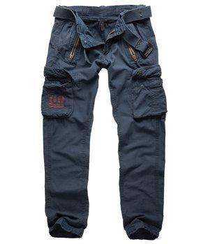 spodnie bojówki ROYAL TRAVELER SLIMMY - ROYALBLUE
