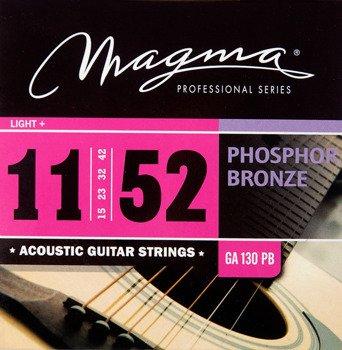 struny do gitary akustycznej MAGMA GA130PB Phosphor Bronze / Light+ /011-052/