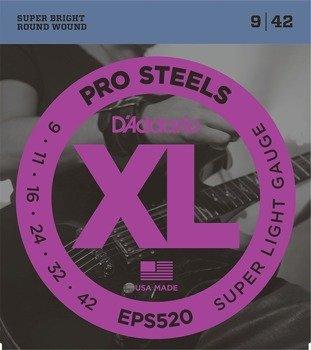 struny do gitary elektrycznej D'ADDARIO XL ProSteels EPS520 /009-042/