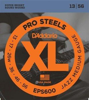 struny do gitary elektrycznej D'ADDARIO XL ProSteels EPS600 /013-056/