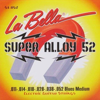 struny do gitary elektrycznej LA BELLA SA1152 Super Alloy 52 / Blues Medium /011-052/