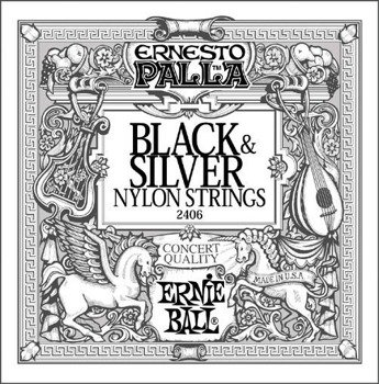 struny do gitary klasycznej ERNIE BALL ERNESTO PALLA Black Nylon, Normal Tension EB2406 /028-042/