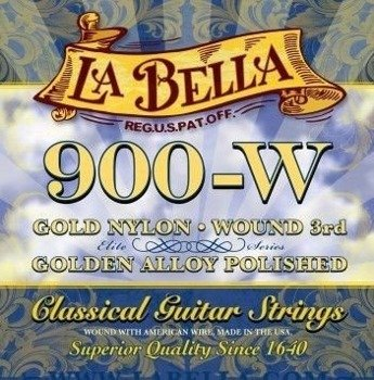 struny do gitary klasycznej LA BELLA Elite Series 900-W Golden Superior