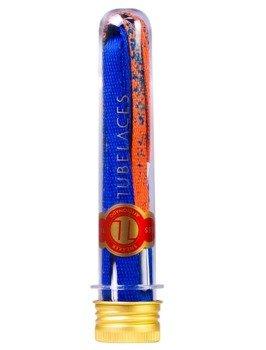 sznurowadła TUBELACES - GOLD FLAT SPLATTER ORANGE/ROYAL (130 cm)
