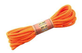 sznurowadła okragłe POMARAŃCZOWE ODBLASKOWE dł.200cm