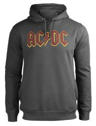 bluza AC/DC - LOGO, kangurka z kapturem, szara