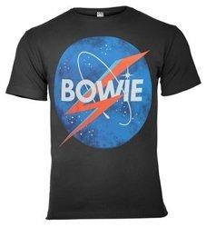koszulka DAVID BOWIE - TO THE MOON ciemnoszara