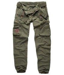 spodnie bojówki ROYAL TRAVELER SLIMMY - ROYALGREEN