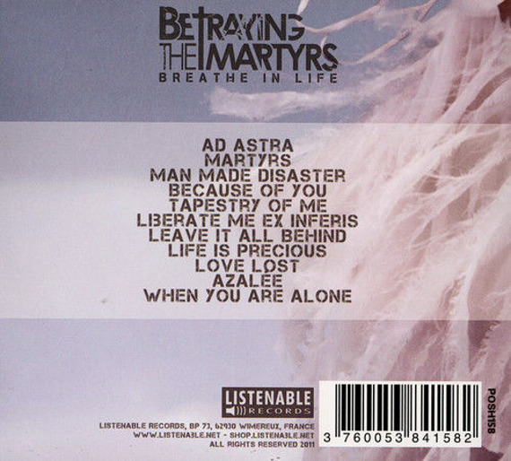 BETRAYING THE MARTYRS : BREATHE IN LIFE (CD)