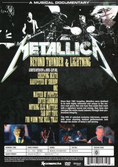 METALLICA: BEYOND THUNDER & LIGHTNING (DVD)