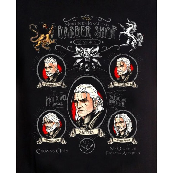 koszulka WIEDŹMIN / THE WITCHER - SHAVE AND HAIRCUT